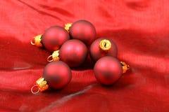 Christmas red balls Stock Image