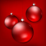 Christmas red balls Royalty Free Stock Images