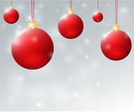 Christmas red balls1 Stock Photo