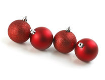 Christmas Red Balls Line Stock Images