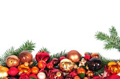 Christmas red balls xmas Royalty Free Stock Photos