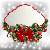 Christmas red banner. Vector royalty free stock image