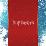 Christmas red Banner with white Snowflakes Stock Photography
