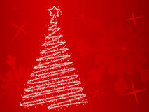 Christmas red baskground. Vector illustration. Royalty Free Stock Photography