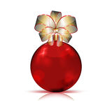 Christmas red bauble Royalty Free Stock Images