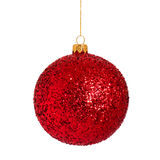 Christmas bauble on white Stock Photos