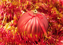 Christmas red bauble Royalty Free Stock Photo