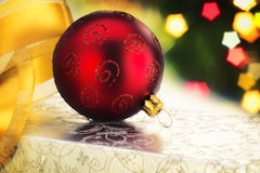 Christmas Red Bauble Stock Images