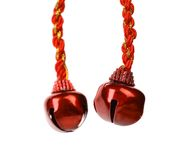 Christmas red bells Royalty Free Stock Photography