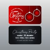 Christmas Red and Black Banner template vector illustration