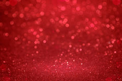 Christmas red bokeh background.  The concept of love , Valentine Royalty Free Stock Photos