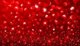 Christmas Red bokeh effect Stock Image