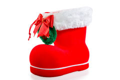 Christmas red boot Royalty Free Stock Photography