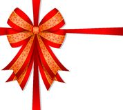 Christmas red bow Royalty Free Stock Photos