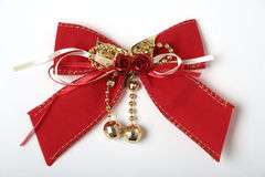 Christmas red bow Stock Images
