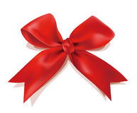 Christmas red bow Stock Photo