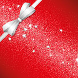 Christmas red bow background Royalty Free Stock Photos
