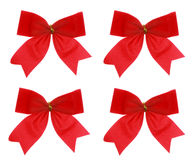 Christmas red bow, isolated Royalty Free Stock Photo