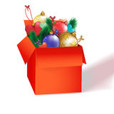 Christmas red box Royalty Free Stock Image