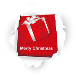 Christmas red box Royalty Free Stock Photo