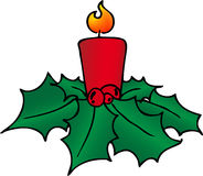 Christmas red candle Royalty Free Stock Photography