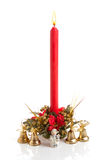Christmas red candle Royalty Free Stock Images