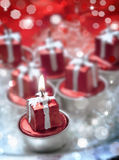Christmas red candles Stock Photography