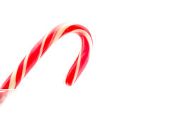 Christmas red candy canes on white Royalty Free Stock Images