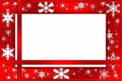 Christmas red card Royalty Free Stock Photo