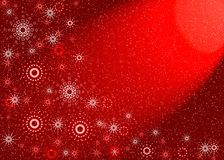 Christmas red card Royalty Free Stock Photos
