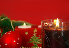 Christmas  red card Stock Images