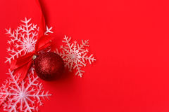 Christmas red card Royalty Free Stock Image