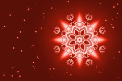 Christmas red card with snowflake Royalty Free Stock Photo