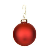Christmas: Red Christmas Ornament Royalty Free Stock Image