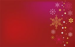 Red classic Christmas background Royalty Free Stock Photography