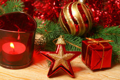 Christmas in red color Royalty Free Stock Image