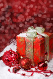 Christmas red  decoration Stock Photos