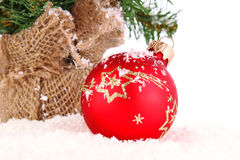 Christmas red decoration Royalty Free Stock Photography