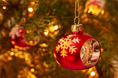 Christmas red decoration Royalty Free Stock Photo