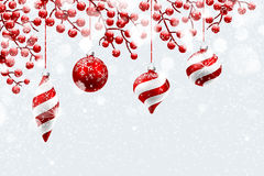 Christmas Red Decorations vector illustration