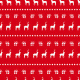 Christmas red deer doodle decoration background Stock Photography