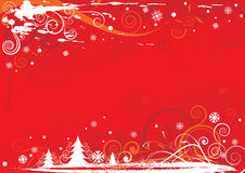Christmas red design Royalty Free Stock Photo