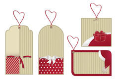 christmas red eco labels Stock Images