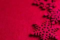 Christmas red fabric with snowflake abstract background Royalty Free Stock Photography