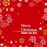 Christmas red frame. Seamless christmas red frame. Illustration vector vector illustration