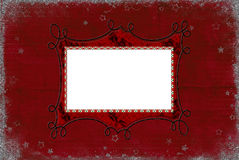 Christmas Red frame Stock Photos