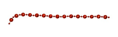 Christmas red garland with round beads stock photography
