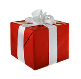 Christmas red gift Royalty Free Stock Photos