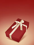 Christmas Red Gift Box Royalty Free Stock Photography