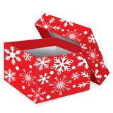 Christmas red gift box Stock Images